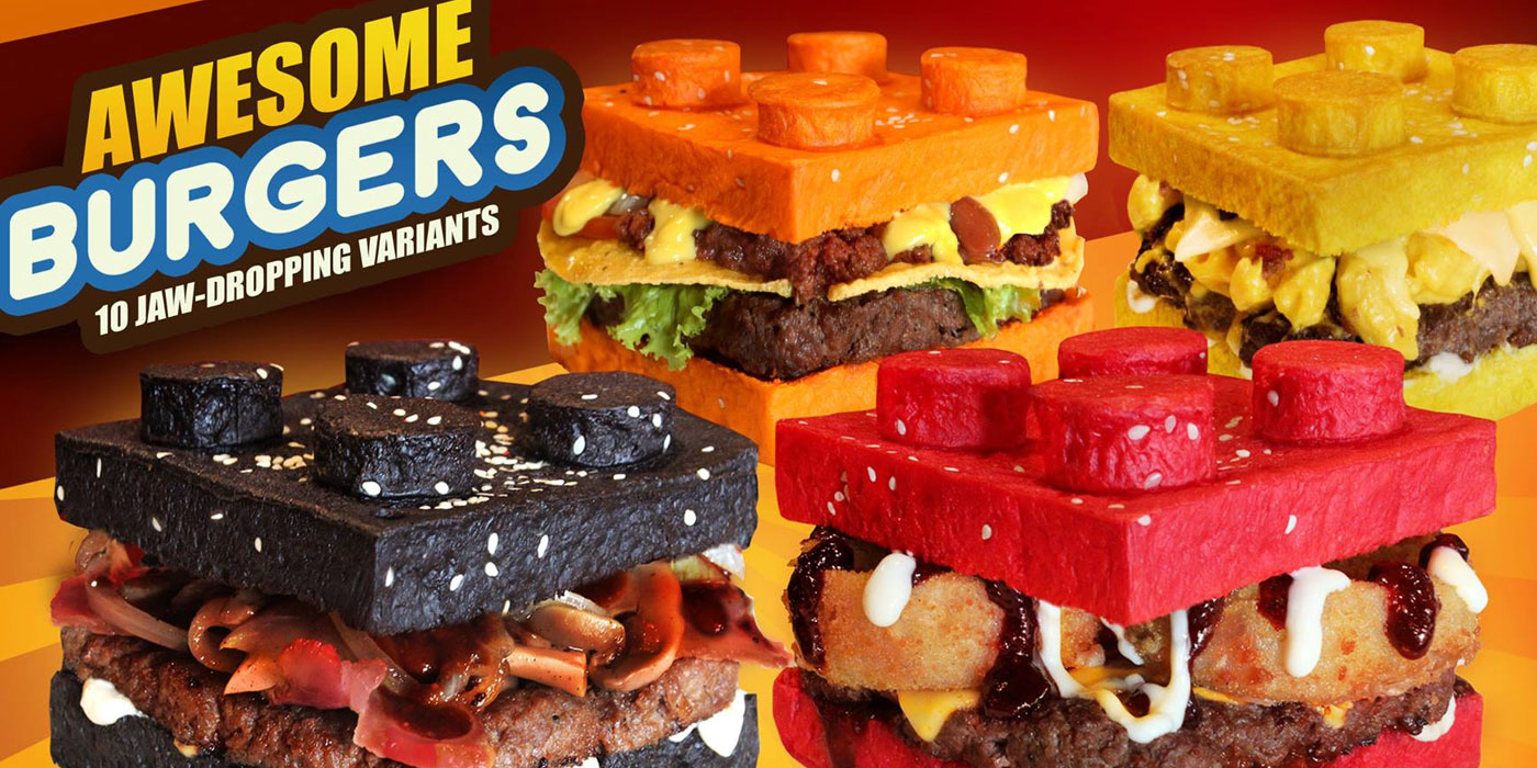 Everything Is Awesome When Youre Eating A LEGOStyle Brick Burger - This restaurant in the philippines now sells lego burger buns