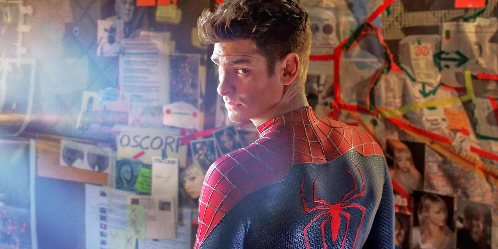 Andrew Garfield as Peter Parker in Amazing Spider-Man 2
