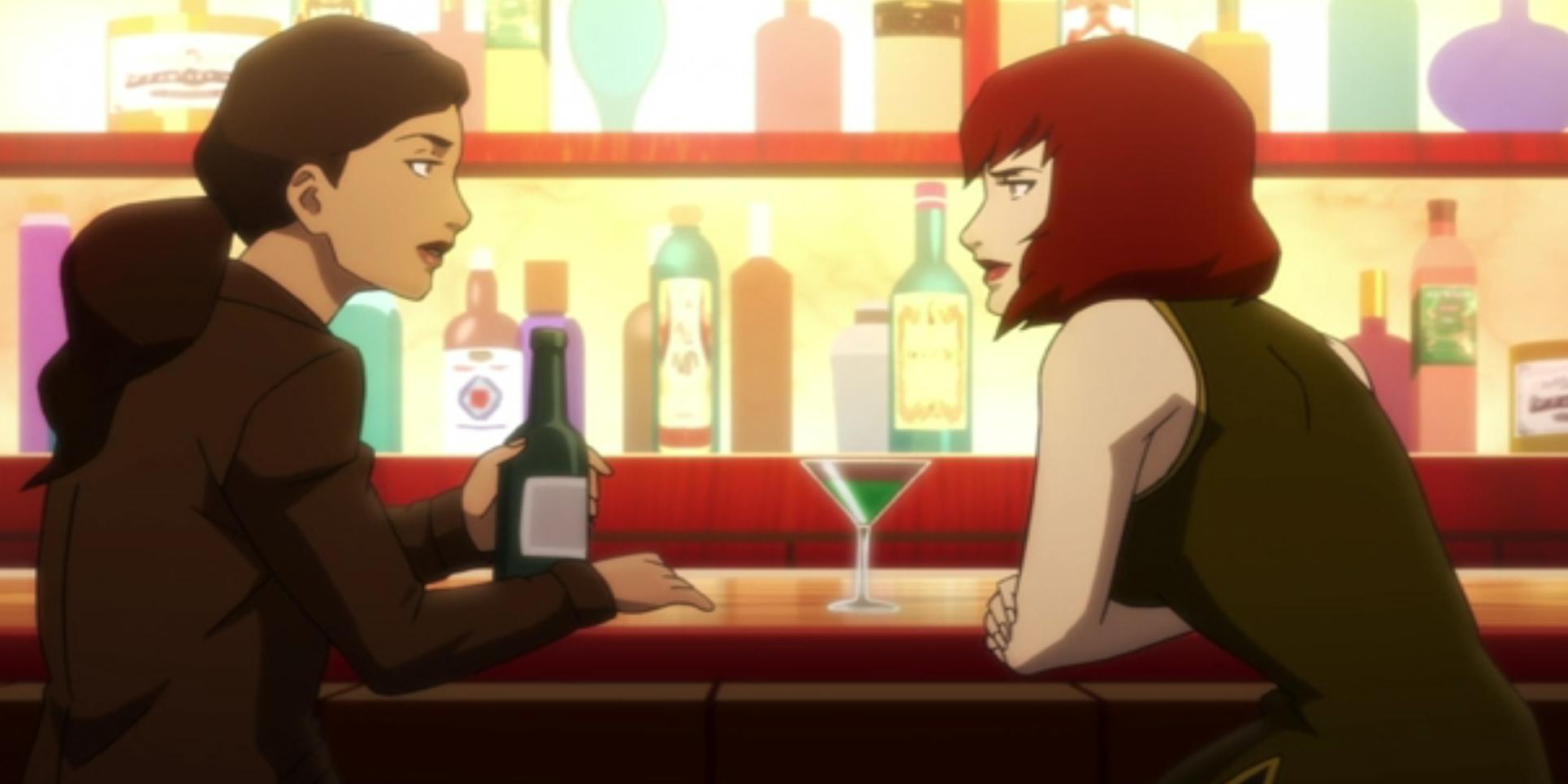 Batwoman in a bar