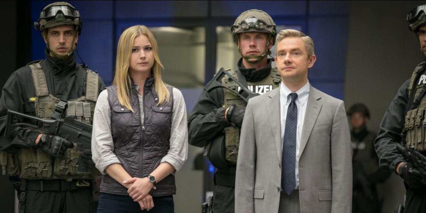 Captain America Civil War Emily Vancamp and Martin Freeman