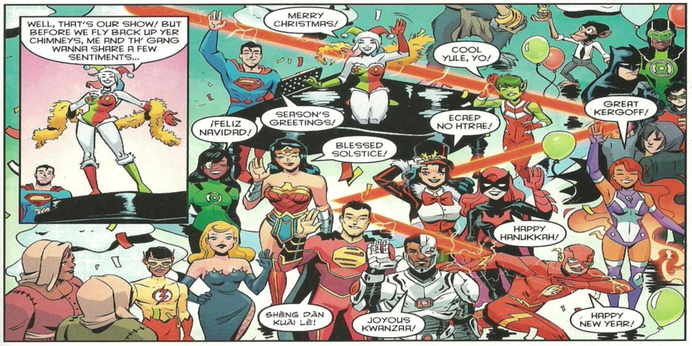 DC Heroes Wishing Happy Holidays