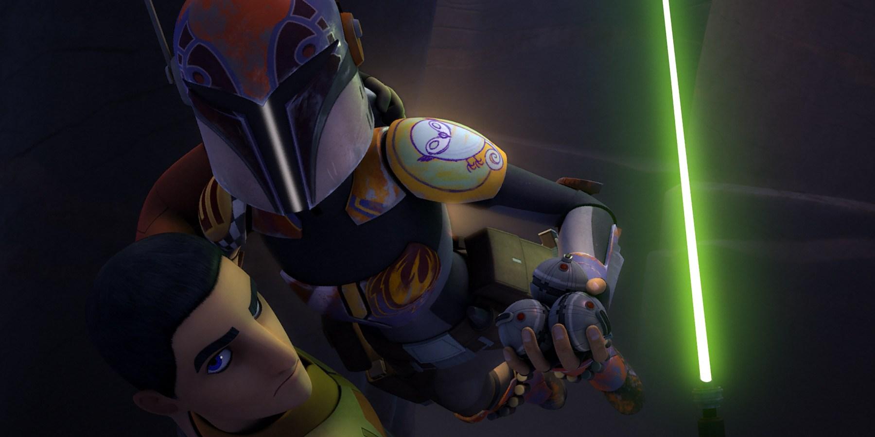 Ezra and Sabine jetpack in Star Wars Rebels