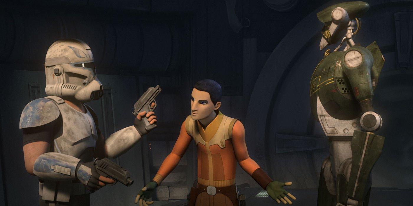 Kalani with Rex and Ezra in StarWars Rebels