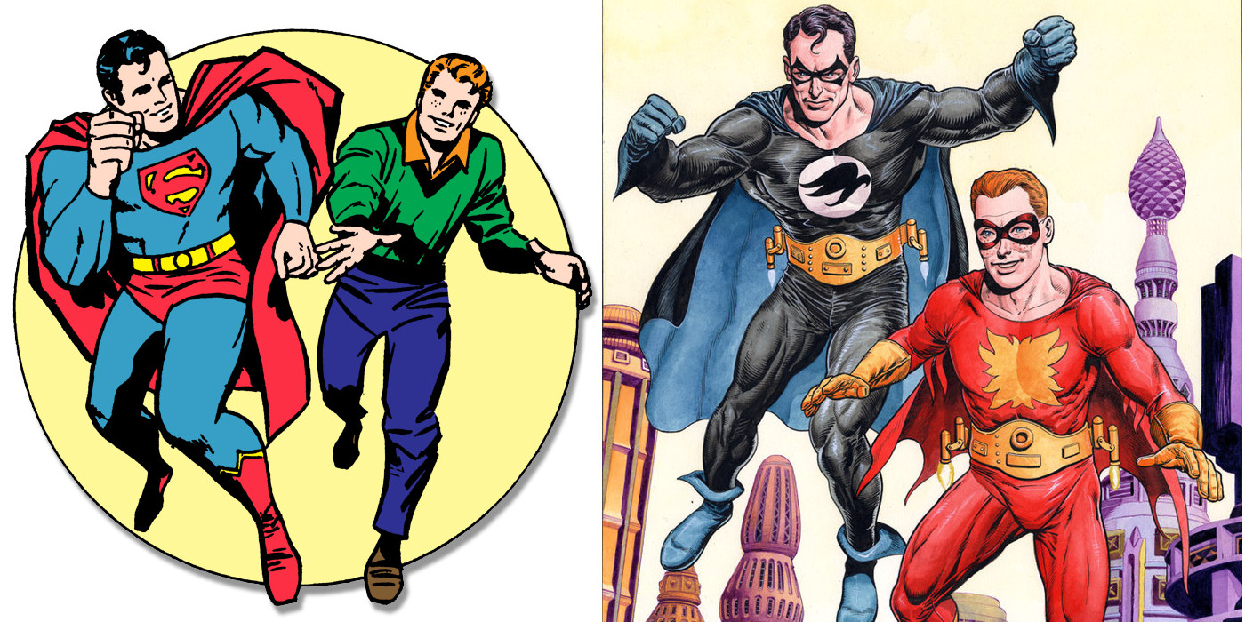 Powergirl,¿personaje subvalorado en DC Universe?: Superman-and-Jimmy-Olsen-Nightwing-and-Flamebird-1