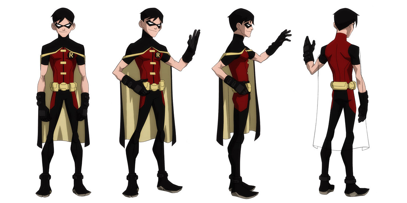 Young Justice Robin Character Design