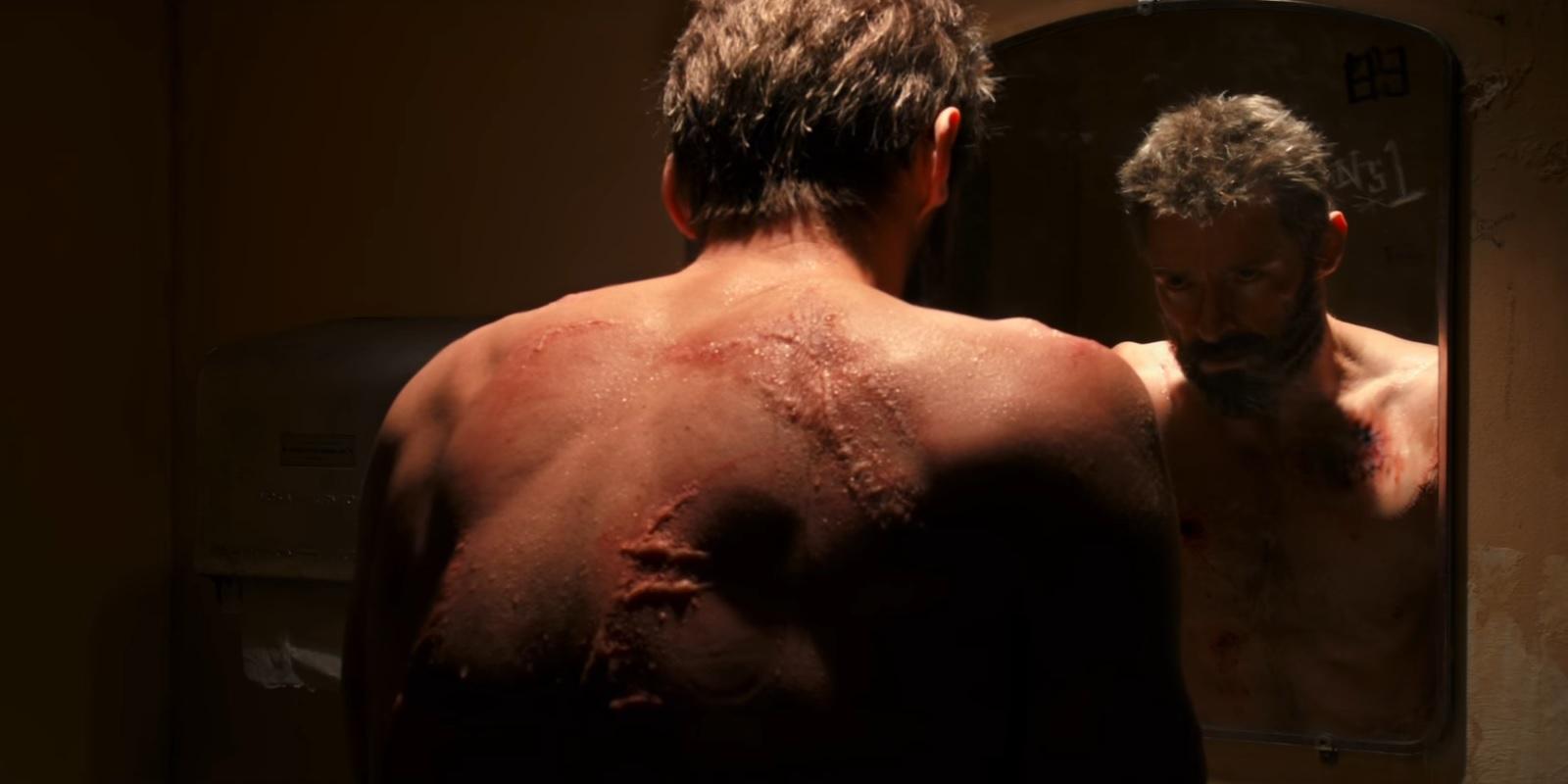 "Hugh Jackman as Logan in ""Logan"""