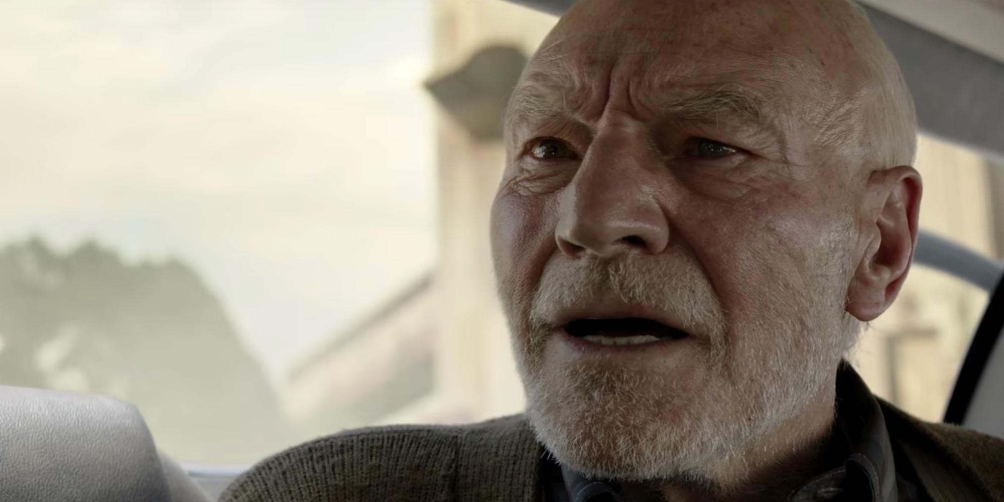 "Sir Patrick Stewart as Charles Xavier in ""Logan"""