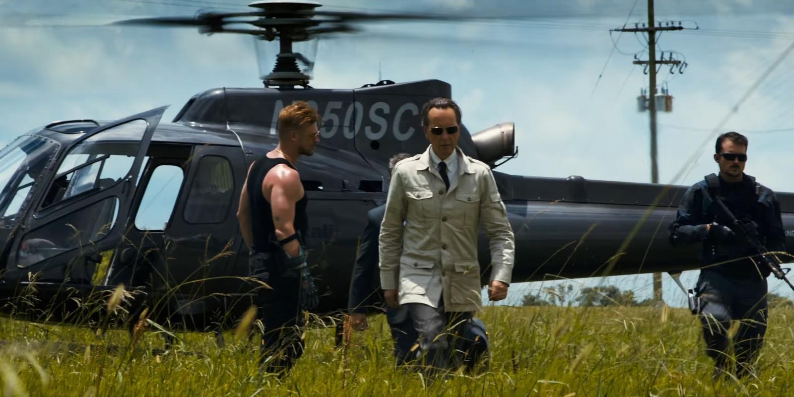 "Richard E. Grant as Dr. Zander Rice in ""Logan"""
