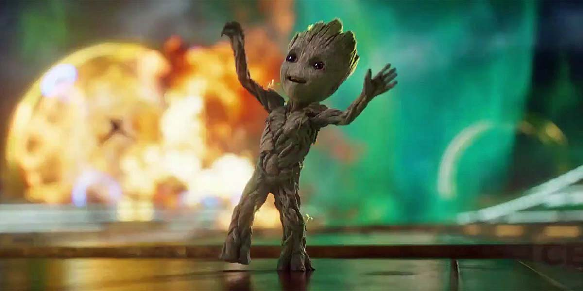 Baby Groot Guardians Of The Galaxy Vol 2 Hd Movies 4k: Baby Groot Dances In Guardians Of The Galaxy Vol. 2