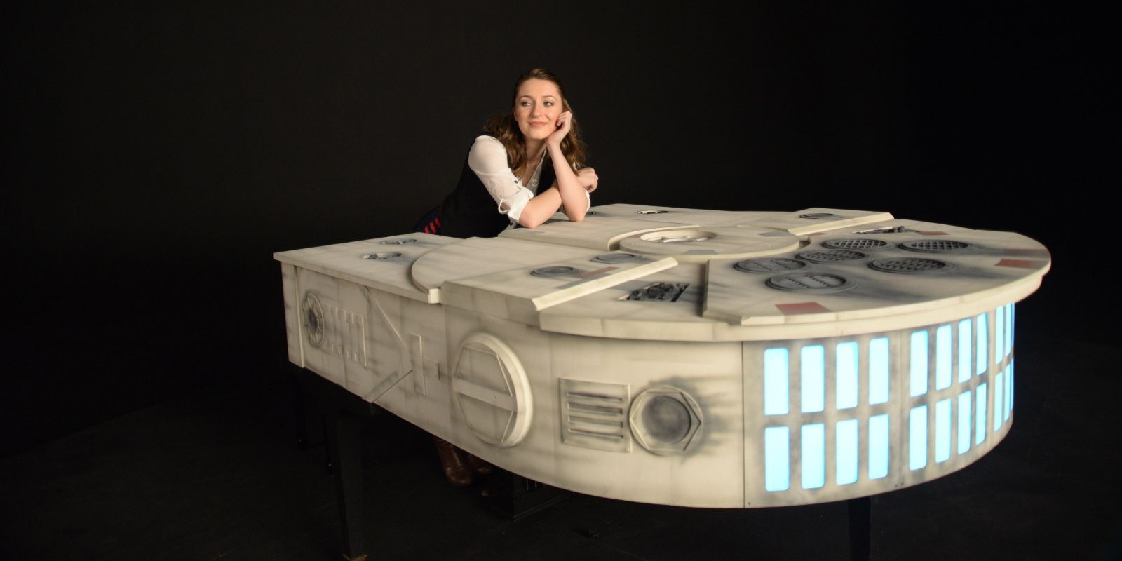 star wars this incredible millennium falcon piano is up for auction. Black Bedroom Furniture Sets. Home Design Ideas