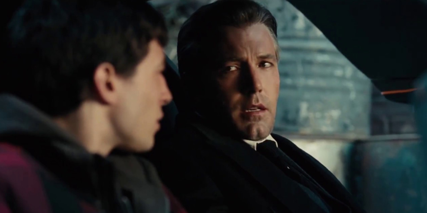 Barry Allen and Bruce Wayne in Justice League