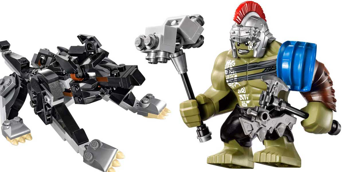 thor ragnarok lego sets include gladiator hulk and fenris