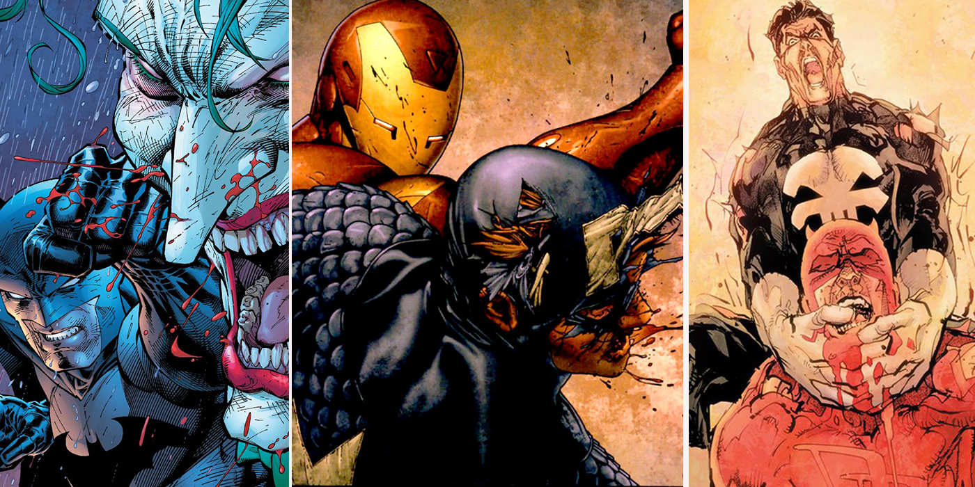 The 15 Bloodiest Fist Fights In Comic Book History Cbr