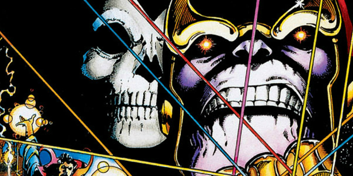 Infinity War Poster Homages Infinity Gauntlet Cover | CBR  Thanos Infinity Gauntlet Movie