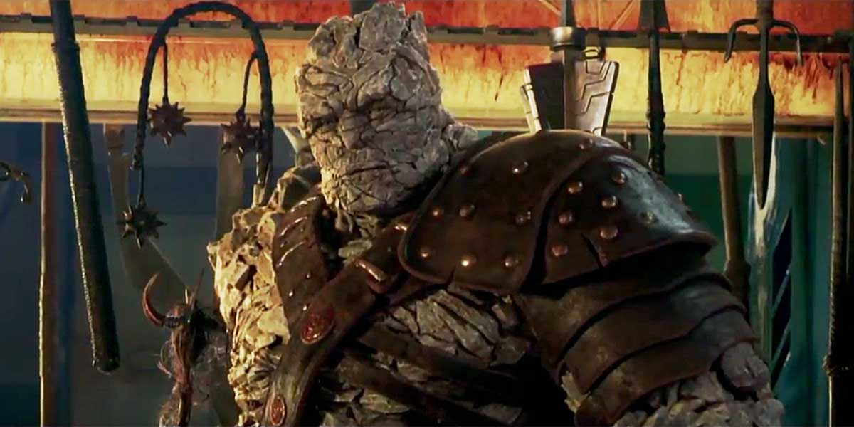 thor ragnarok introduces korg in new clip