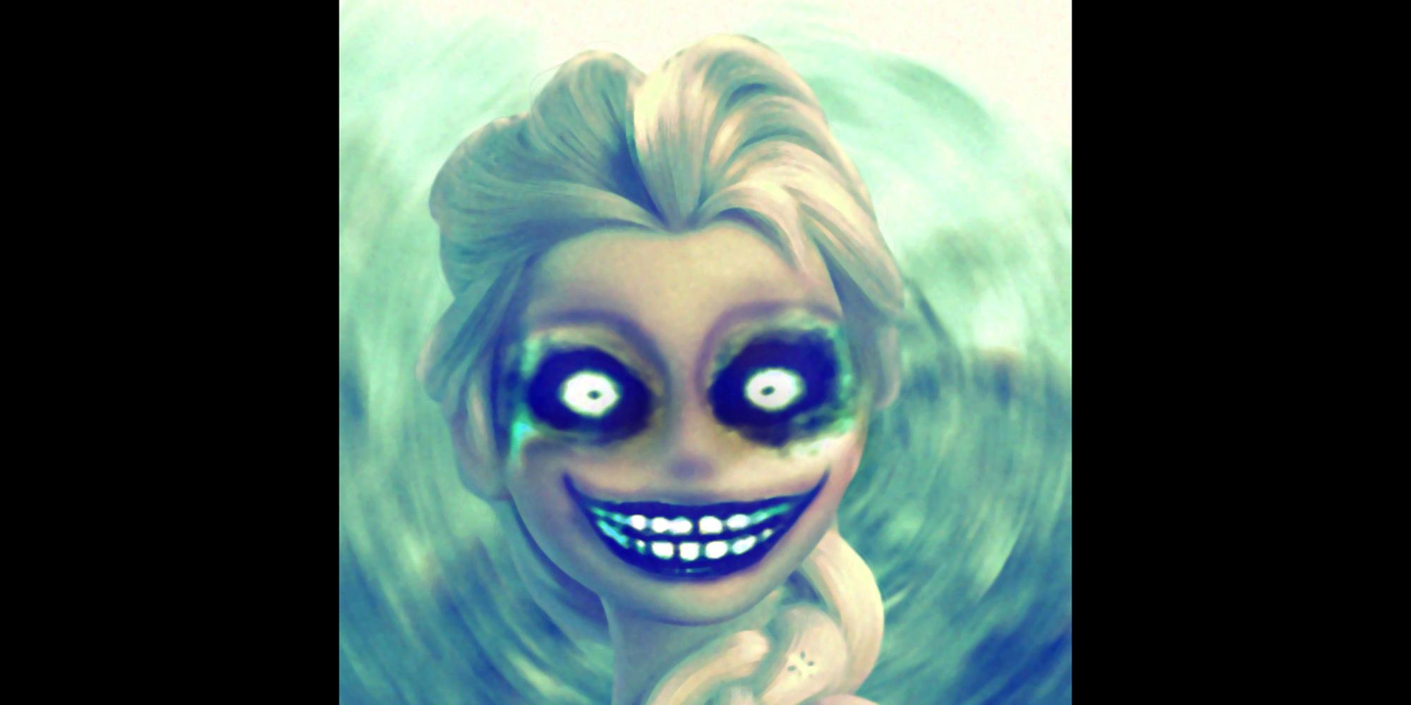 Elsa Demon Disney Disturbing Fanart