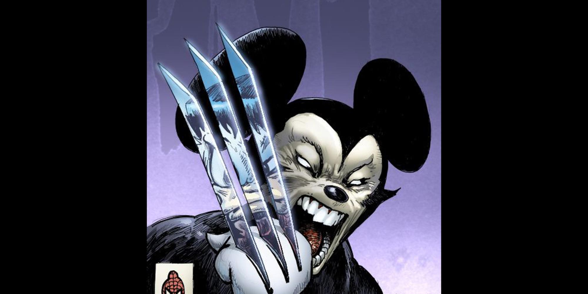 Mickey Wolverine Disney Disturbing Fanart