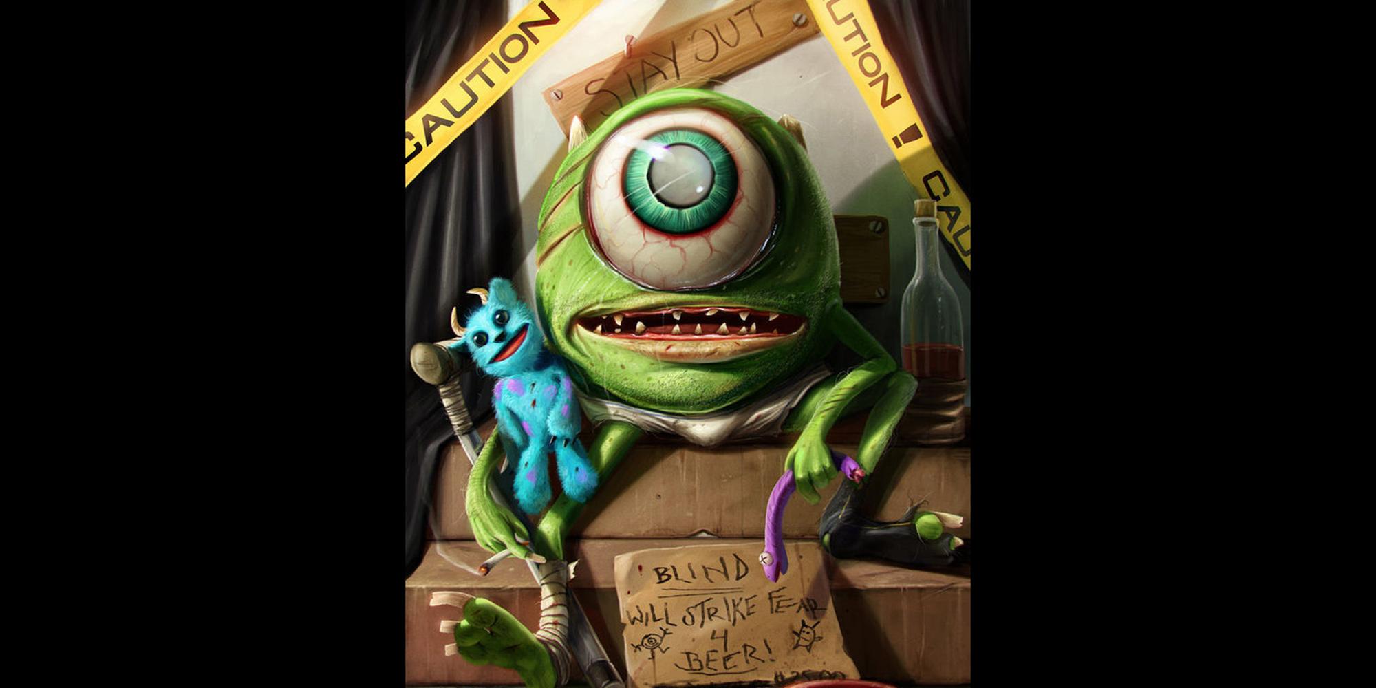 Monsters Inc Disturbing Disney Fan Art