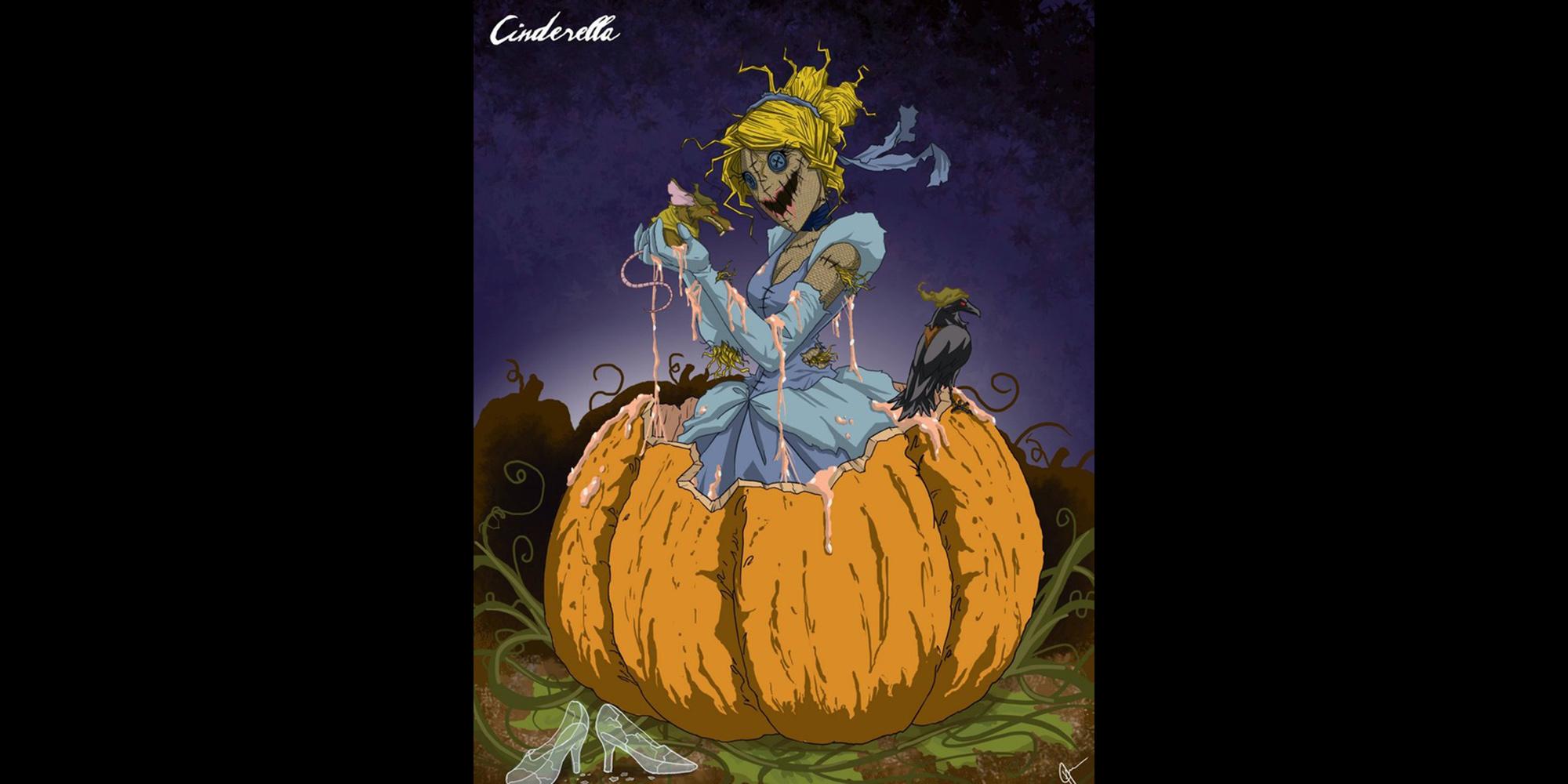 Twisted Princess Cinderella Disturbing Disney Fan Art