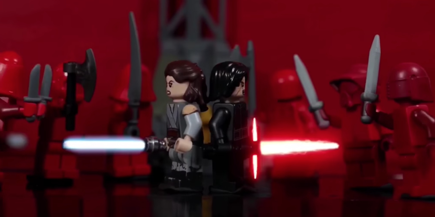 Star Wars Last Jedi S Throne Room Scene Done With Lego
