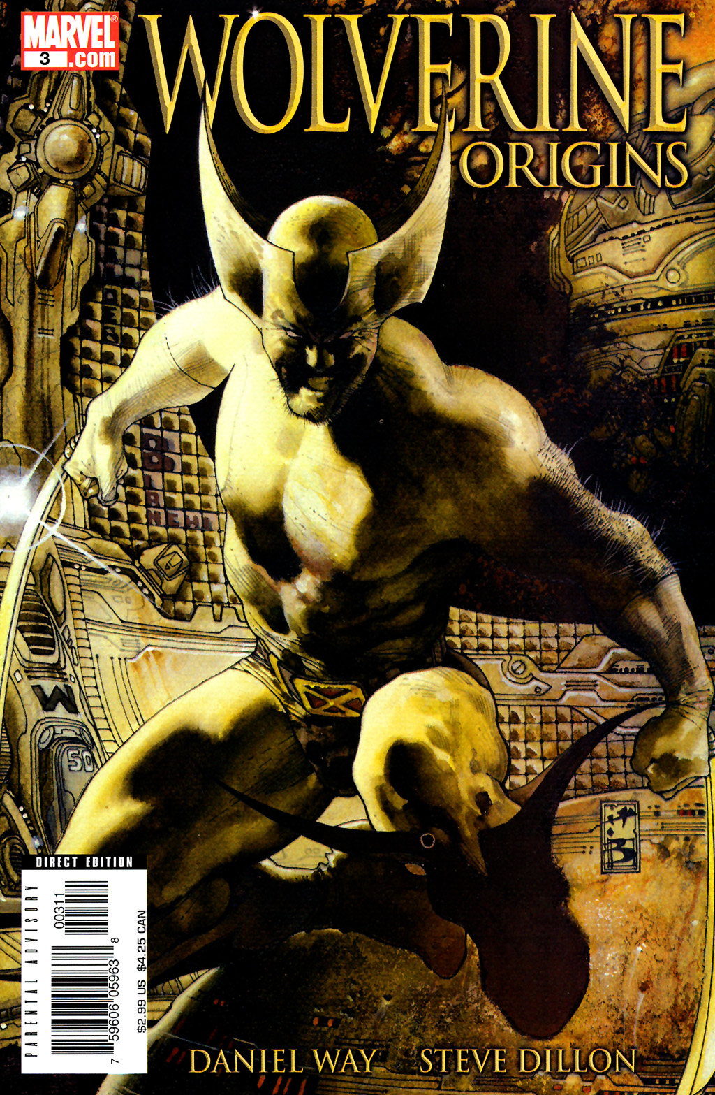 Wolverine hidden message Simone Bianchi