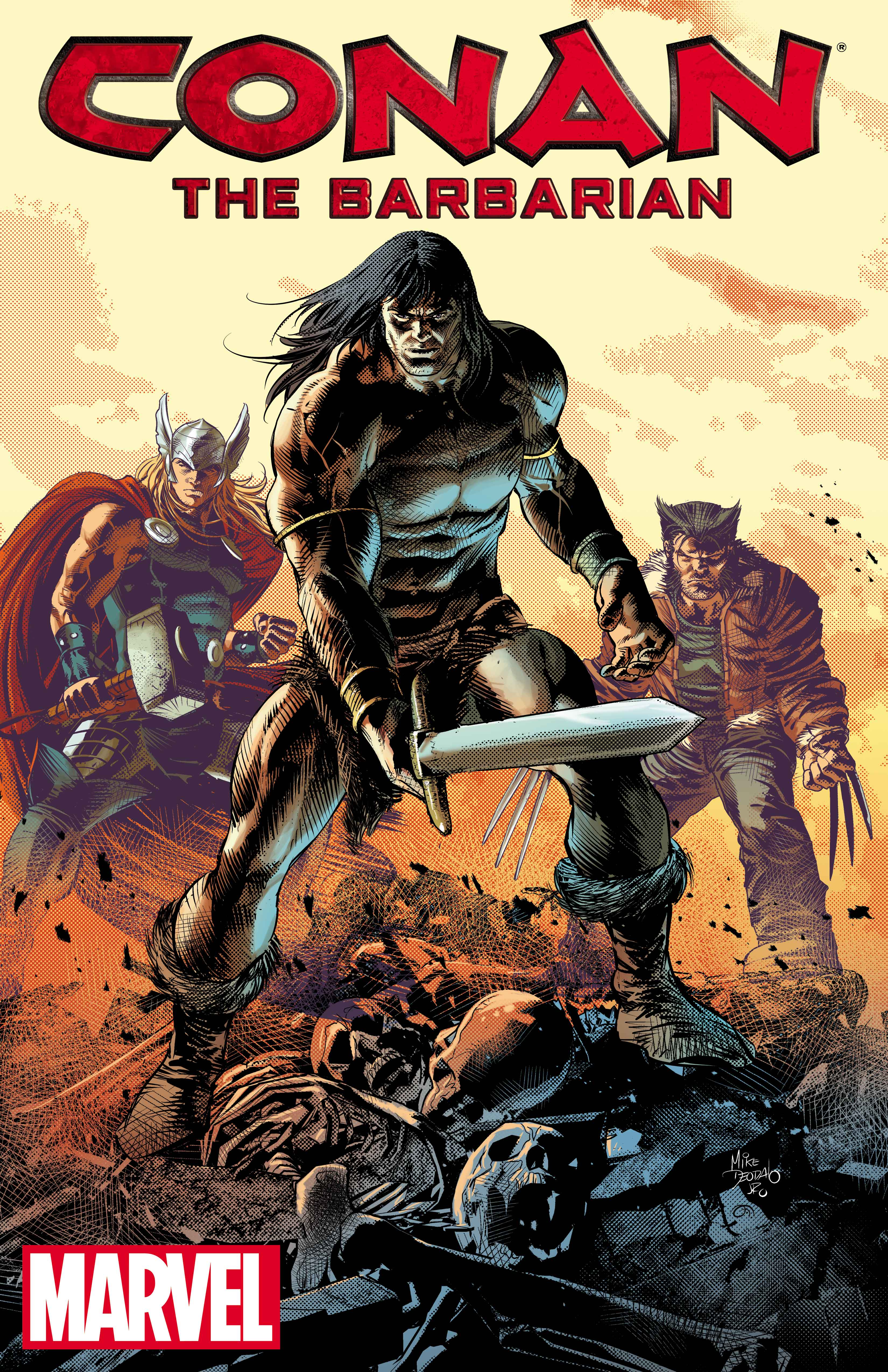 Conan the Barbarian art by Mike Deodato