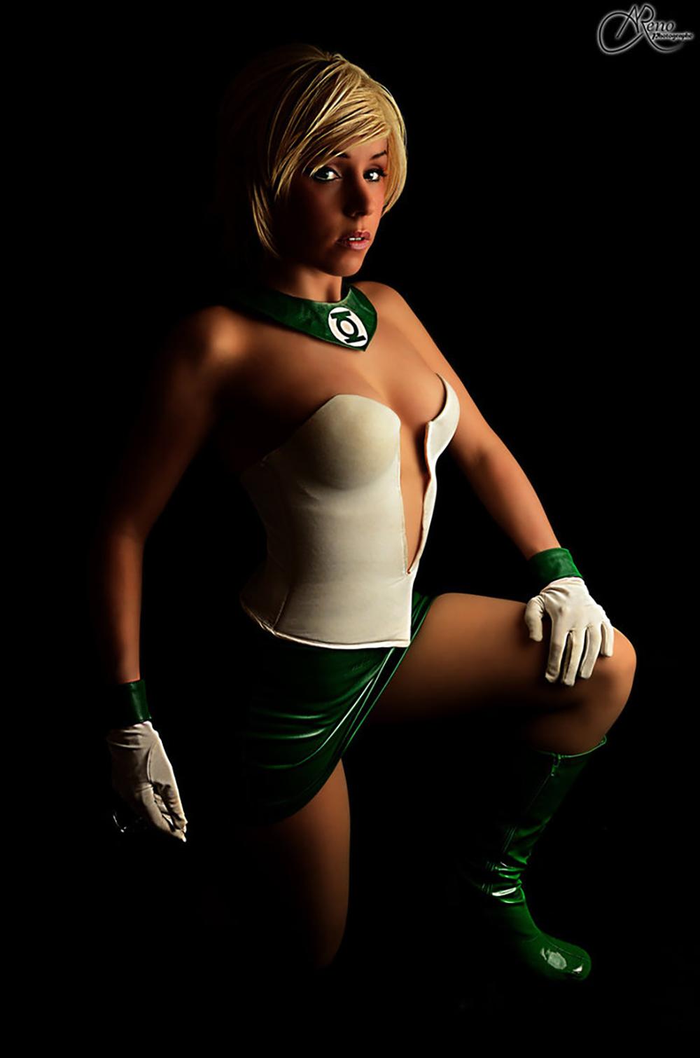 Arisa Green Lantern Cosplay clefchan