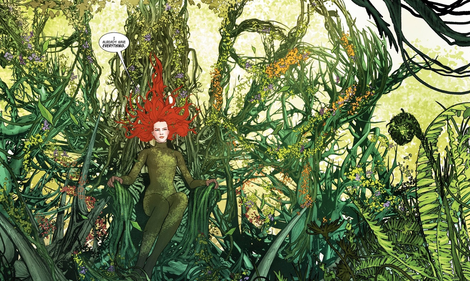 Batman Poison Ivy throne of green