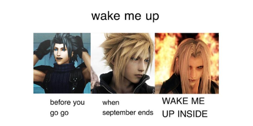 Cloud Strife Zack Fair Sephiroth from Final Fantasy VII Chart
