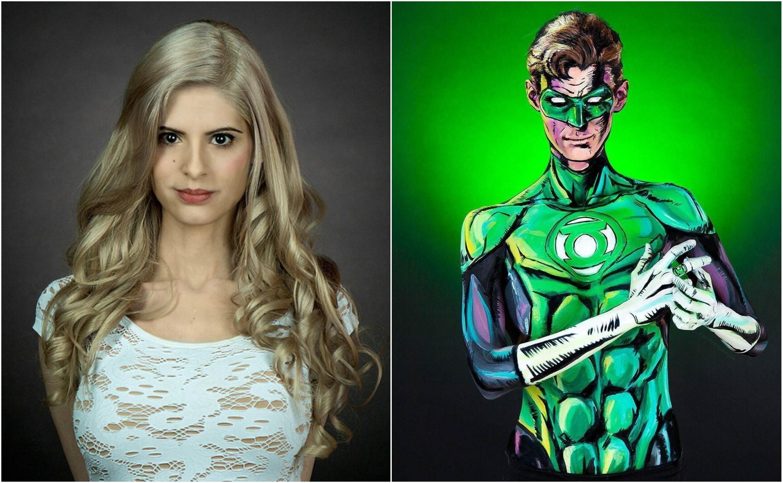 Kay Pike Fashion Green Lantern Hal Jordan Cosplay