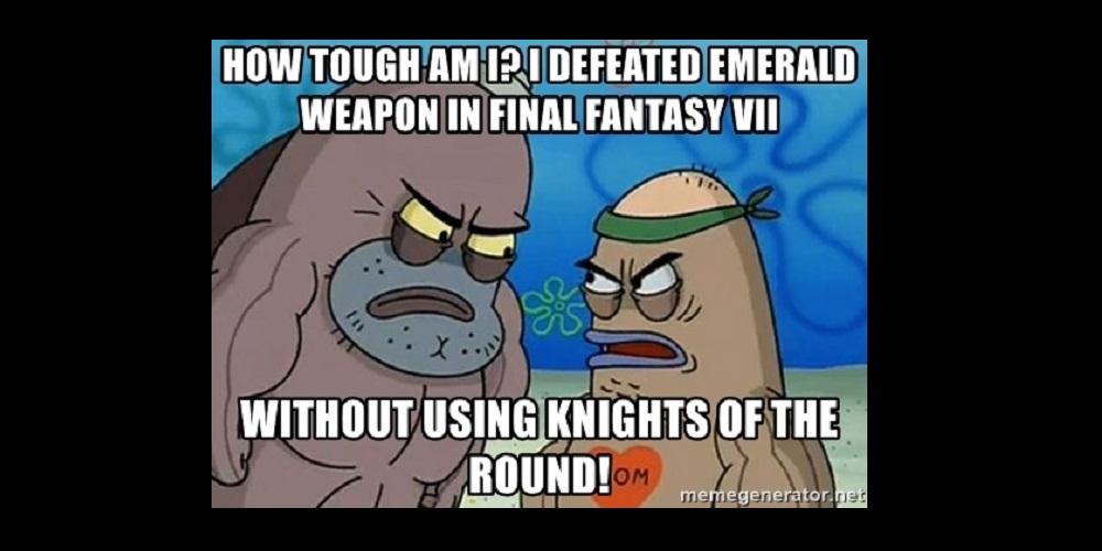 Spongebob Knights of the Round Final Fantasy VII Meme