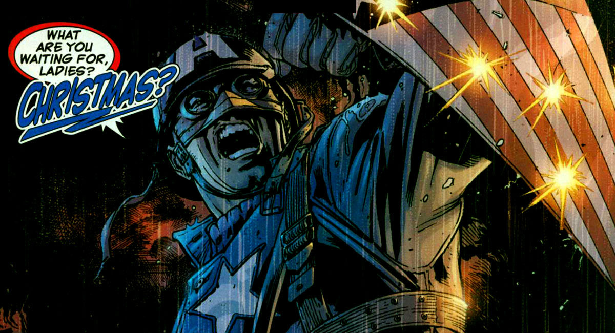 10. The Ultimate Universe has some of the most classic marvel stories. The character stories were written with good varieties. Ultimate Captain America is displayed as a mean, ruthless bully. He has quick preconceptions about people. Some people like this version of him. But this portrayal of him is out of line with his original, usually idealistic characterization.
