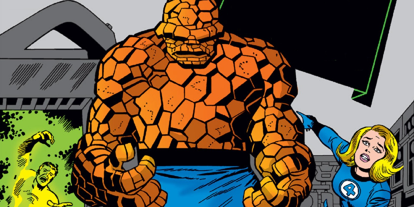 The Evolution of the Thing's Skin During Jack Kirby's Fantastic Four