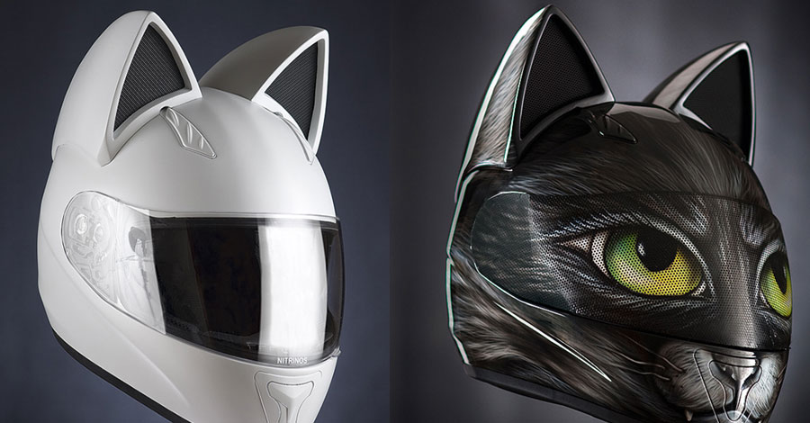 Iron Man Colors >> With a cat-eared motorcycle helmet, you can let the fur fly
