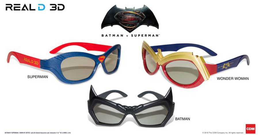 Wonder Woman Sunglasses  reald debuts batman v superman 3d glasses cbr