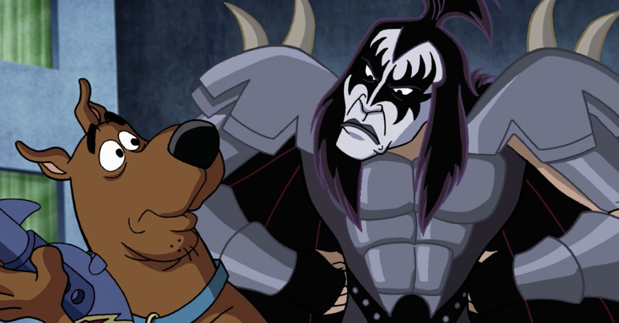 "EXCL. VIDEO: Scooby Meets Gene Simmons in ""Scooby-Doo! and KISS"" Crossover"