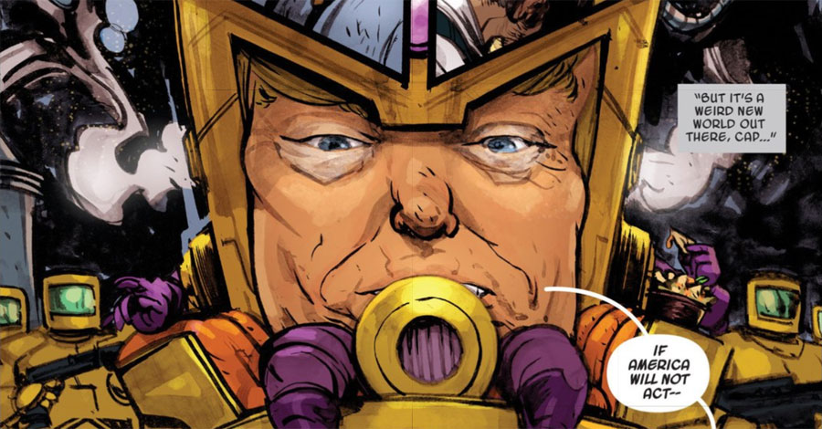 """Donald Trump Becomes a Marvel Supervillain in """"Spider-Gwen"""""""