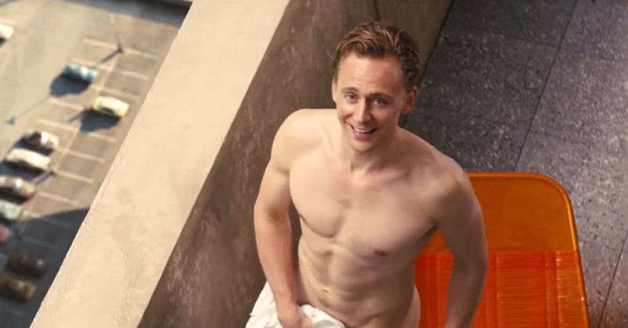 Tom Hiddleston is almost naked in new High Rise film images